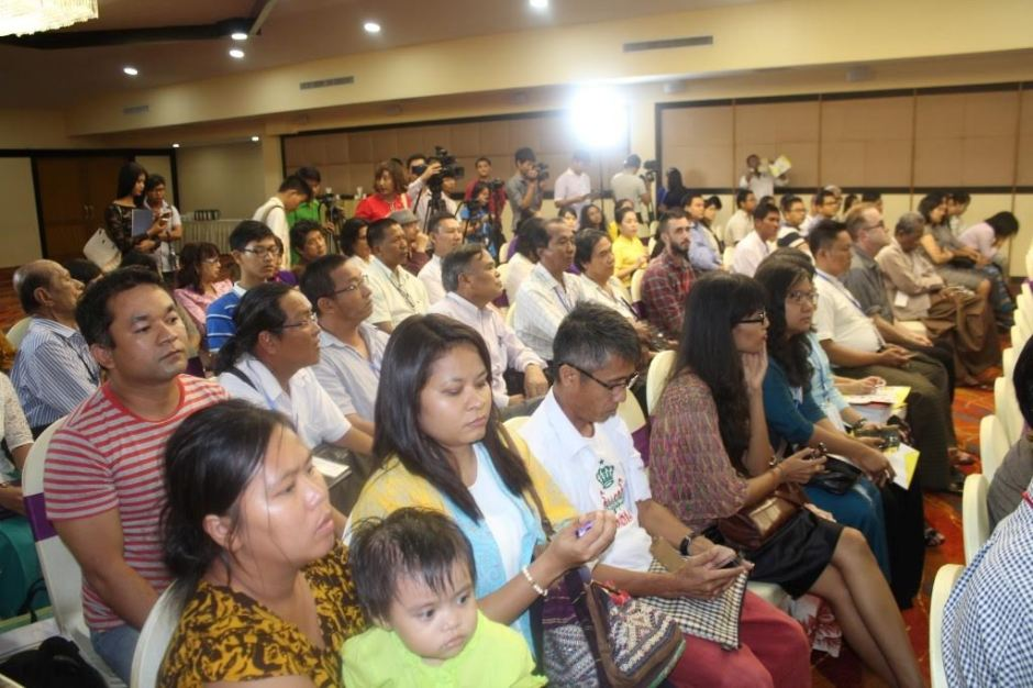 Audience for opening ceremony at the Taw Win Garden Hotel (Image credit: Han Zaw)