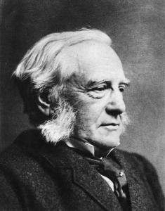 F. Max Mueller / Foto um 1895  Mueller, Friedrich Max Indologe u. Historiker, Dessau 6.12.1823 - Oxford 28.10.1900. Portraetaufnahme, um 1895.