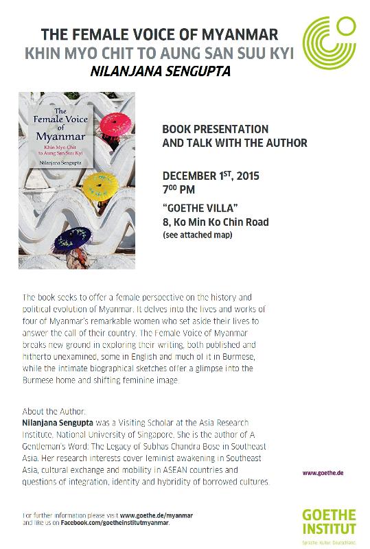 Myanmar book launch