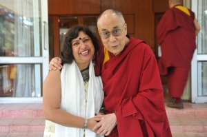 Dipika with His Holiness Dalai Lama Kitaab Interview