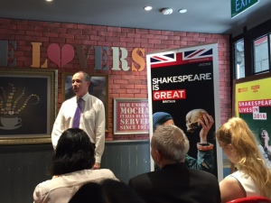 HE Scott Wightman, British High Commissioner in Singapore, addressing the media on 9 March