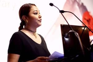 Sujata Parashar, Director FON, introduces the initiave at the KLF curtain raiser held in Sep 2015