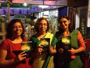 Author Monideepa Sahu (centre)