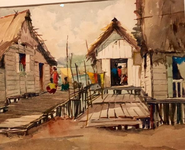 Isa kamari novels - Kampong Scene by Lim Cheng Hoe