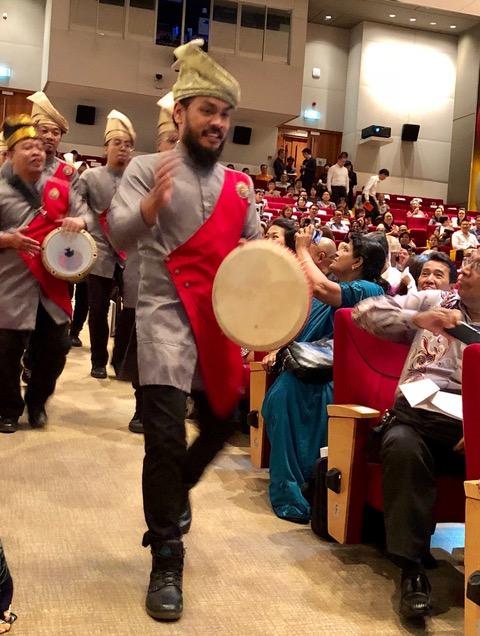 The Nadi Singapura drummers give festive start to the ceremony