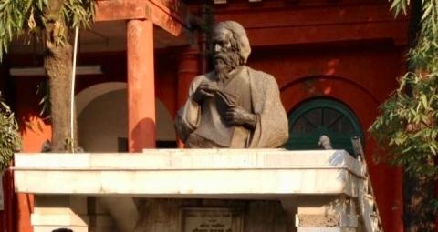 Tagore's bust at his ancestral home at Joransankho, Kolkata
