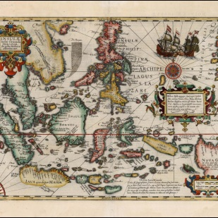 A 1606 map of East Indies