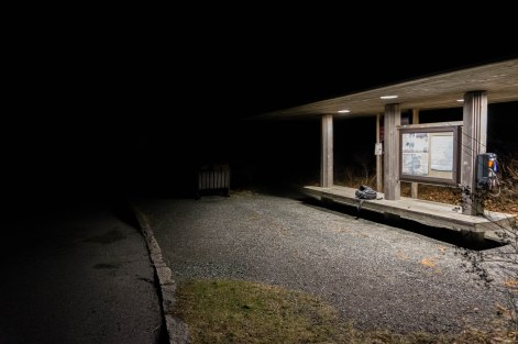 Spooky bus stop