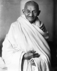 Rare studio photograph of Mahatma Gandhi taken in London England UK at the request of Lord Irwin 1931