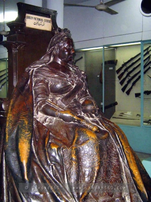 Now Victoria is throned at the Lahore Museum