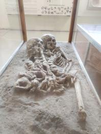 1. Caption - The elegant death-embrace, Lothal Archaeological Museum