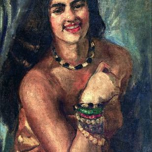Self portrait -- Amrita Shergil